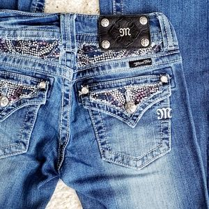 Miss Me Daisy Duque Bootcut Embellished Jeans 25